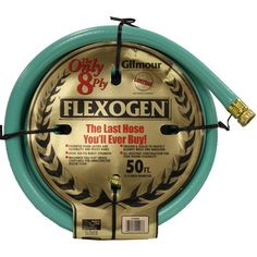 Gilmour 10-34050 3/4-In. X 50-Ft. 8 Ply Flexogen Hose (00034411112076) Features: The last hose youll ever buy Patented foam layers add flexibility and resist kinks Over 500 PSI burst strength Heavy duty collar resists kinks at faucet Machine Full-Flo brass couplings for unrestricted water flow Treated and sealed to protect against mold and abrasion All weather construction for year round flexibility 8 ply 3/4 in. diameter x 50 ft. length Whats In The Box: Gilmour 10-34050 3/4-In. X 50-Ft. 8…