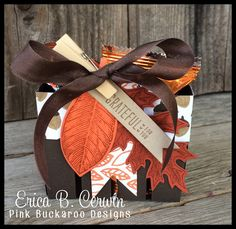 Mini Bigz Berry Basket with Vintage Leaves and Into The Woods DSP by Erica Cerwin- Includes video tutorial!