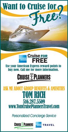 Ask me how you can travel for FREE and all the amenities available to you when you travel with your group!