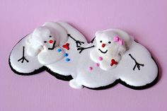 Melting Snowman Cookies for Valentine's Day.