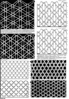 Perchica.ru: Dozens of crochet mesh and netting patterns with charts /diagrams.