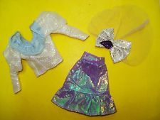 Vtg Jem and the Holograms 80s CLONE TOTSY Doll Clothes Lot METALLIC Skirt Set