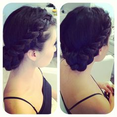 Braid updo for MOH duty? Hairdos, Updos, Hairstyles, Brilliant Braid, Hair Arrange, Hair Creations, Dream Hair, Braided Updo, Gorgeous Hair