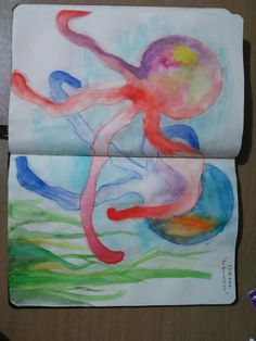 O zaman dans. #octopus #watercolor #sea