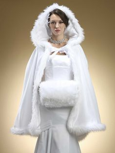Faux Angora Hand Muff with Wristlet. Product Code: 3361M. Jane's Fashions and Bridal is an Authorized Retailer of Mariell Bridal Jewelry, Prom Jewelry & Wedding Accessories