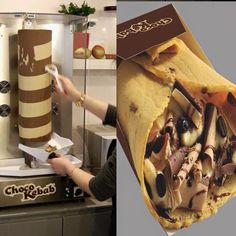 Chocolate Kebab 😳😍 via ➡️ Gift Logo, Kebab, Shawarma, Cheap Gifts, Food Humor, Funny Food, Chocolate Gifts, Creative Food, No Cook Meals