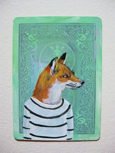♞ Artful Animals ♞ bird, dog, cat, fish, bunny and animal paintings - fox