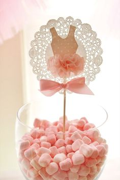 Pink Tutu Ballerina Birthday Party toppers