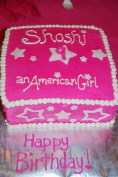 american girl birthday cake - Google Search