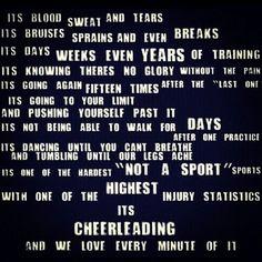 Cheerleading...