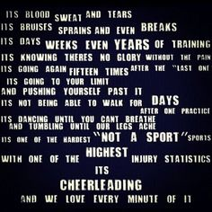 Cheerleading...