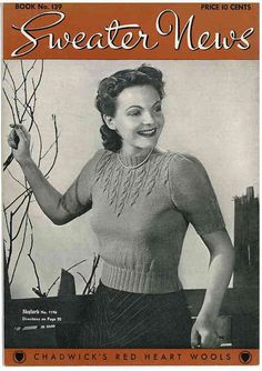 Lux Knitting Book c.1939 Hard to Find Knitting Pattern Book WWII Era Fashions