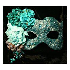 Image result for aqua masquerade mask