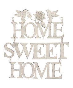 Stonebriar Weathered White Home Sweet Home Wall Decor White Home Decor, Home Wall Decor, Home Wall Art, Sweet Home, Pallet Shelves, Great Housewarming Gifts, Metal Homes, White Houses, Rustic Design