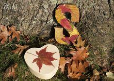 Decoupage med efterårsblade