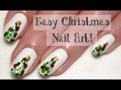 ♥ Easy Christmas Nail Art Tutorial... With A Bobby Pin! ♥ Cute Christmas Tree Nails ♥