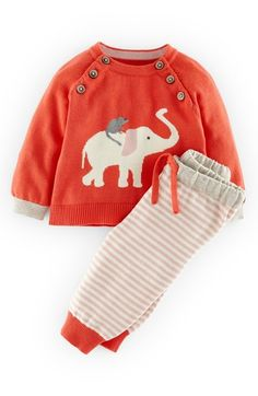 Free shipping and returns on Mini Boden Knit Sweater & Pants (Baby Girls) at Nordstrom.com. An unlikely pair of animal pals livens up a cozy intarsia-knit sweater paired with matching elastic-waist pants for an endearing playtime style.