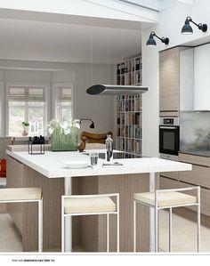 HTH - Hvit eik / hvit Table, Furniture, Home Decor, Modern, Decoration Home, Room Decor, Tables, Home Furnishings, Home Interior Design