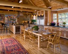 Unique Home Design in Beautiful Appearance: Fabulous Dining Room Light Wood Furniture Woodstock Vermont Post & Beam