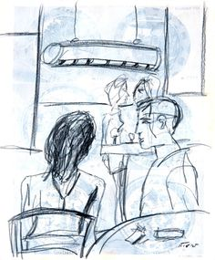 "Saatchi Art Artist Neal Turner; Drawing, ""Brasserie Lipp"" #art"