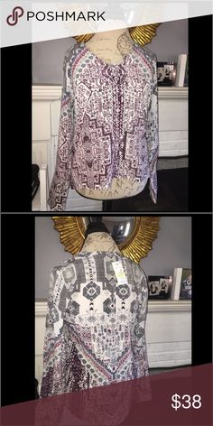 Fab woven silk pullover top. Vendor sample Amazing silk material NWT only used as a vendor sample in perfect condition with tags still attached. Cannot use vendor name due to current line. vendor sample cannot list name Tops