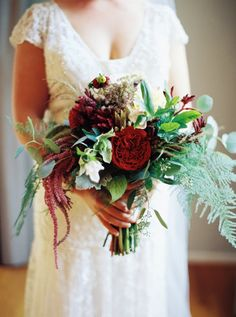Berry red fall bouquet: http://www.stylemepretty.com/2016/07/14/forget-catching-pokemon-catch-these-wedding-bouquets-instead/