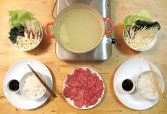 One of our choice date night meals is Shabu Shabu or, Japanese hot pot. Unfortunately, it also costs an arm and a leg (and you even cook your own food! Shabu Shabu (named for the Asian Recipes, Healthy Recipes, Ethnic Recipes, Asian Foods, Shabu Shabu Recipe, Fondue Party, Fusion Food, Hot Pot, Cooking Recipes