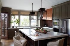 Lakehouse Kitchen - Brick Backsplash
