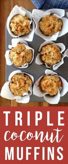 Triple Coconut Muffin Recipe (Grain/Dairy-Free) | Fresh Planet Flavor