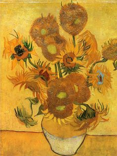 off Hand made oil painting reproduction of Vase With Fifteen Sunflowers II, one of the most famous paintings by Vincent Van Gogh. In Vincent Van Gogh was waiting for the arrival of his friend Paul . Vincent Van Gogh, Van Gogh Museum, Art Van, Flores Van Gogh, Vase With Fifteen Sunflowers, Desenhos Van Gogh, Van Gogh Flowers, Sun Flowers, Orange Flowers