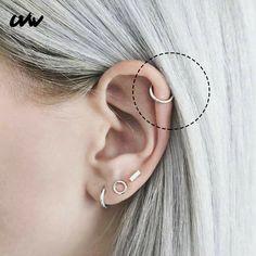 10Pcs Plata Metal Redondo Plano Pad Aro Pendientes De Clip Clip de oreja de mujer de alta calidad