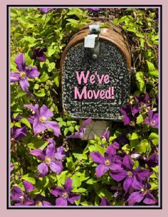 """We've moved"" greeting card. Make one at CustomCardGal.com"