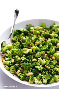 Asian Broccoli Salad -- quick and easy to make, and made with a tasty peanut sauce | http://gimmesomeoven.com #Salad #Broccoli