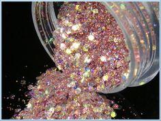 Pink Glitter Spilling