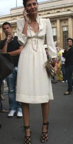 Giovanna Battaglia, Fashion Editor for Vogue L'Uomo - Derek Lam Dress