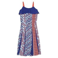 'Balzine' Spaghetti Strap Dress in Royal Blue