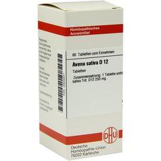AVENA SATIVA D 12 Tabletten:   Packungsinhalt: 80 St Tabletten PZN: 02626301 Hersteller: DHU-Arzneimittel GmbH & Co. KG Preis: 5,95 EUR…