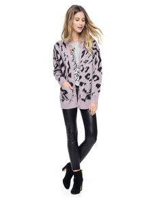796f9fb664c Outlet - IMPERIAL LEOPARD JACQUARD CARDIGAN
