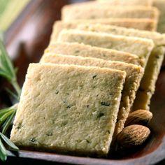 Rosemary Crackers Recipe; uses almond flour.  GF, paleo