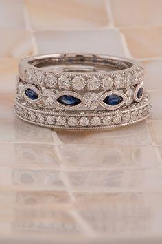 Diamond Wedding Rings, Diamond Bands, Diamond Jewelry, Stackable Wedding Bands, Sapphire Wedding Sets, Stacked Wedding Bands, Sapphire Band, Platinum Wedding, Oval Diamond