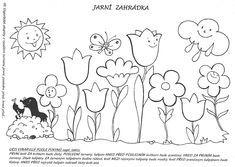 Jarní zahrádka   Předškoláci - omalovánky, pracovní listy Spring Activities, Activities For Kids, Crafts For Kids, Quiet Book Templates, Printable Crafts, Preschool Worksheets, Free Coloring Pages, Illustrations And Posters, Spring Flowers