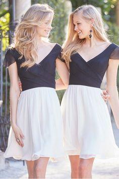 Chiffon Short Bridesmaid Dresses robe demoiselle d'honneur abiti da damigella vestido de madrinha curto vestido dama de honra
