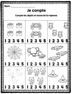 FRENCH {Halloween}Math and literacy/Halloween {maths et littératie}