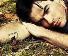 I LOVE Ian's tattoo! It says Hic Et Nunc, which is Latin for Here and Now.