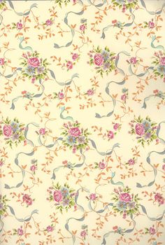 """SALE 30% Off 'Ribbons and Flowers' Wrapping Paper Made in Italy - Florentine Paper, 2 Sheets 19.5""""x27"""" (18.5809) by FLORENTINESHOP on Etsy"""