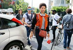 Lineisy Montero with a Michael Kors bag