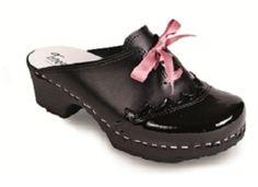 Fanny Black Leather/Black Patent