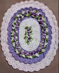 Crochê Gráfico: Tapete delicado em crochê
