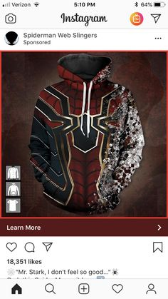 I cried so hard at this part of Infinity War but I NEED this sweater. Marvel Dc, Marvel Memes, Captain Marvel, Marvel Clothes, Fandom Fashion, Looks Cool, Marvel Cinematic, Marvel Universe, Spiderman