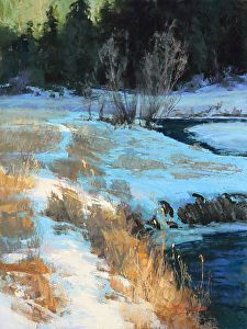 Bear Creek Alchemy by artist Kim Lordier. #pastel #landscape painting found on the FASO Daily Art Show - http://dailyartshow.faso.com